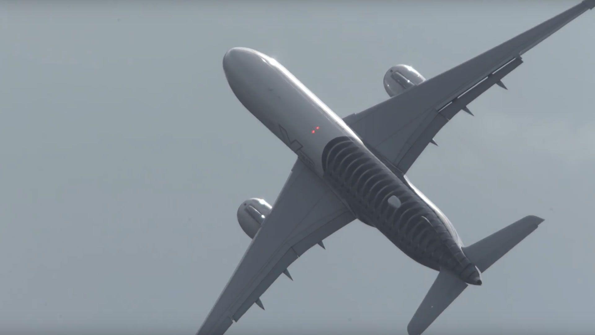 El despegue casi vertical del Airbus A350: video