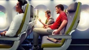 El asiento de avión que se desinfecta solo