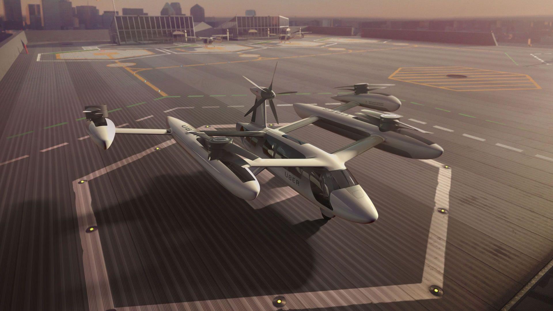 Uber muestra cómo serán sus autos voladores