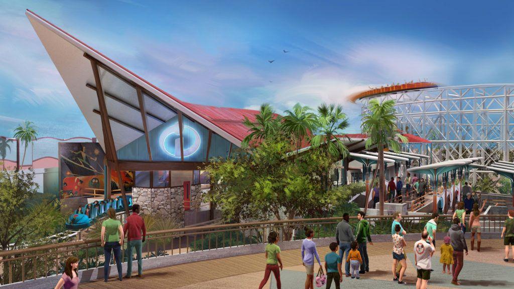 Disney inauguró el Pixar Pier con atracciones de Los Increíbles y Toy Story