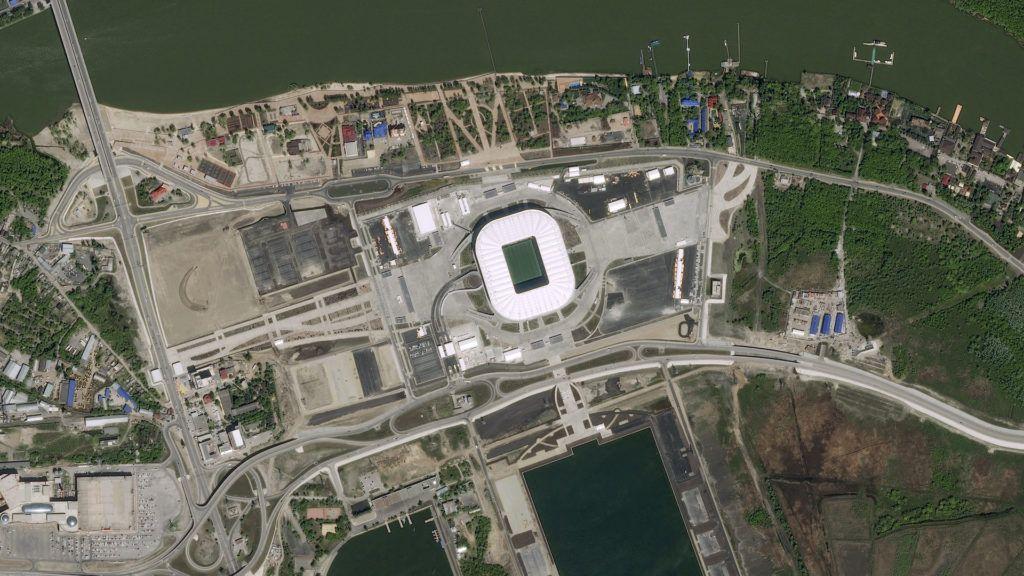 Así se ven los estadios del Mundial Rusia 2018 desde el espacio: imágenes