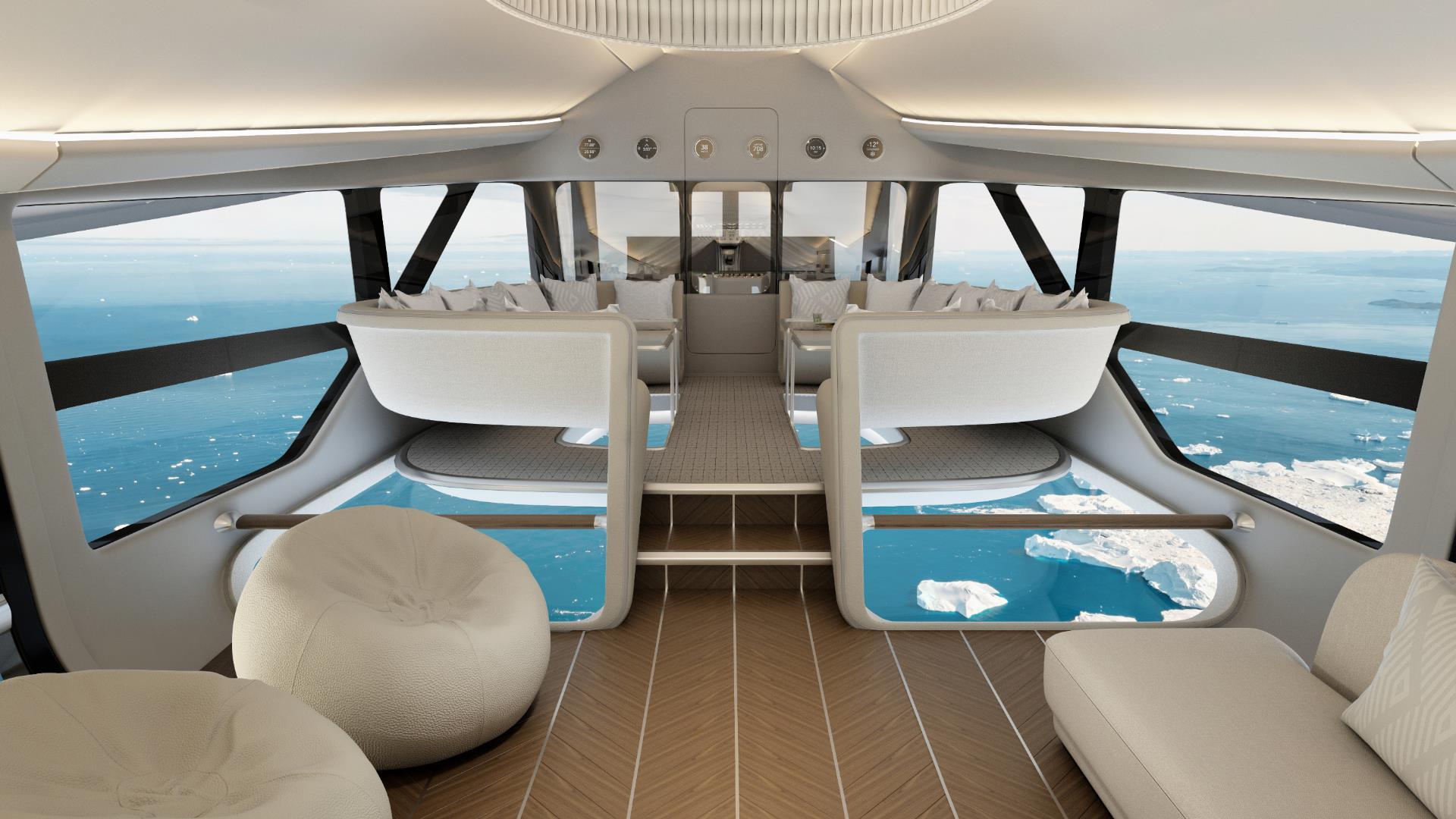 Así será el espectacular interior del Airlander 10