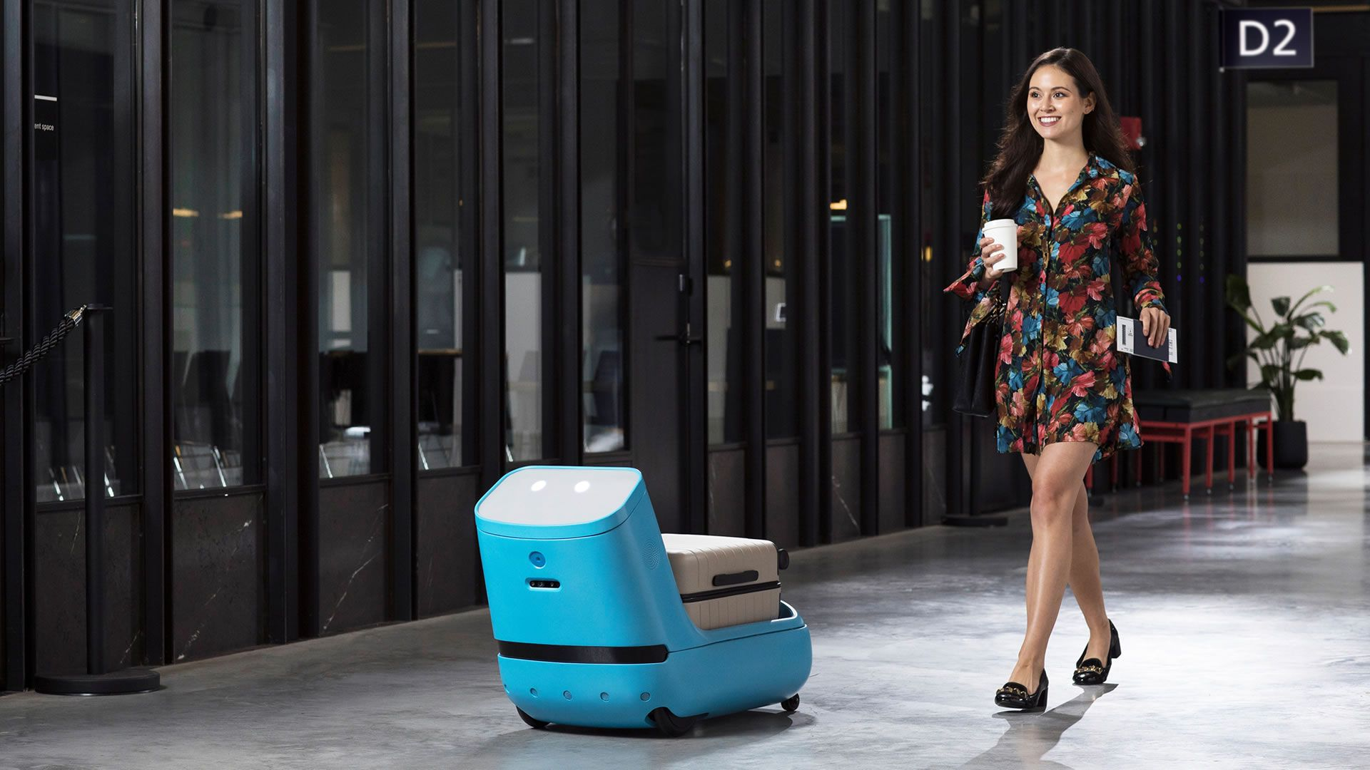 El robot de KLM nos lleva el equipaje a la puerta de embarque: video