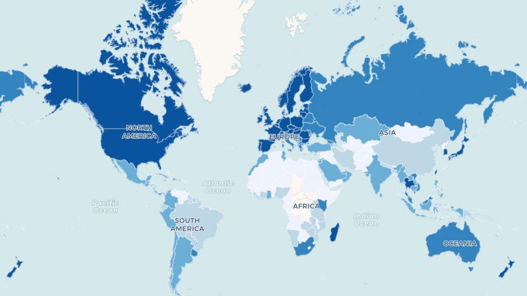 Ranking: 200 países ordenados según su velocidad de internet