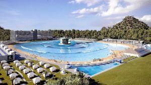 Inaugura la primera piscina de olas para surfear a escala real