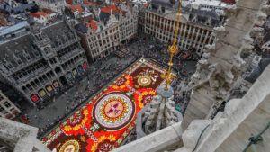 La espectacular alfombra de flores de Bruselas dedicada a Guanajuato, México