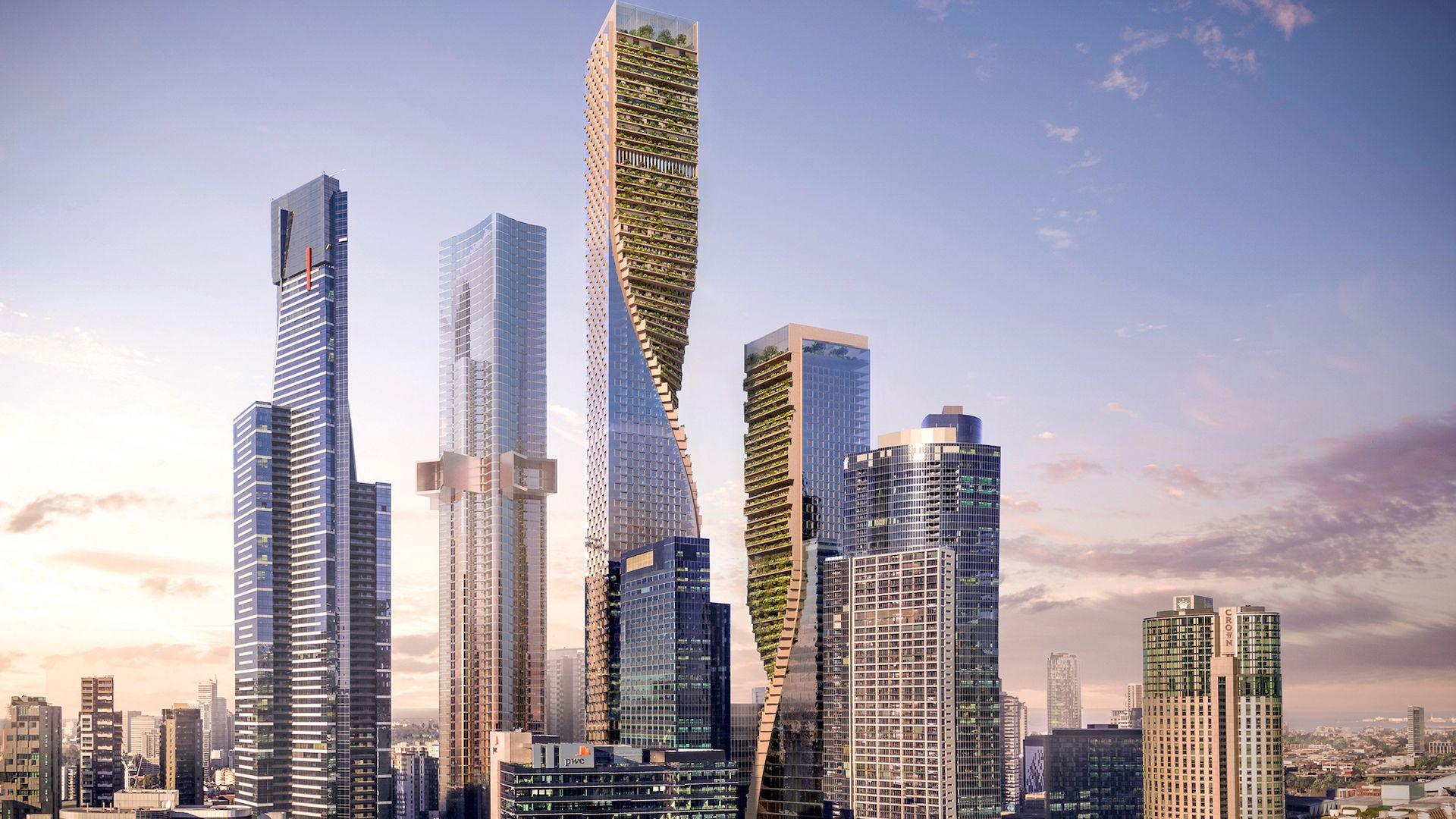 Este será el original edificio más alto de Australia: The Green Spine