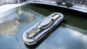El chef más famoso de Francia inaugura su barco para comer en París
