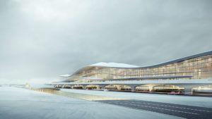 Este es uno de los aeropuertos más revolucionarios con forma de montaña
