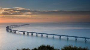 VIDEO Inauguró el puente más largo del mundo sobre el mar