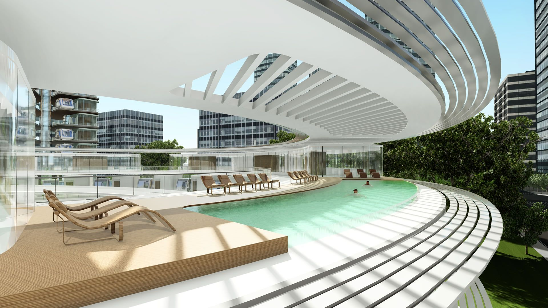 El hotel de futuro presenta una habitación que viaja de un lado a otro: video