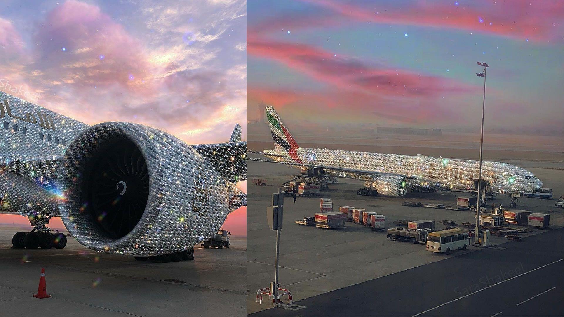 El avión de Emirates recubierto en diamantes (¿es real?)