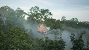 El original hotel de Asia al que solo se puede llegar en tirolesa