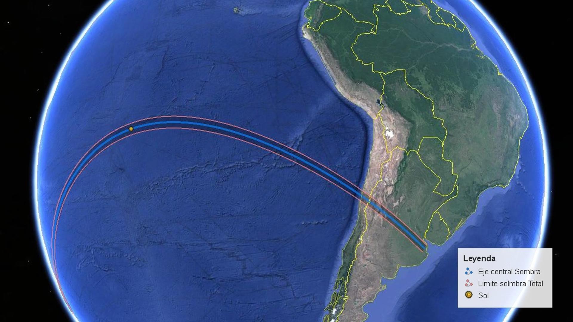 Dónde ver el eclipse de sol que cruzará Argentina y Chile en 2019