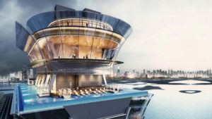 La espectacular piscina infinita de Dubái a 200 metros de altura