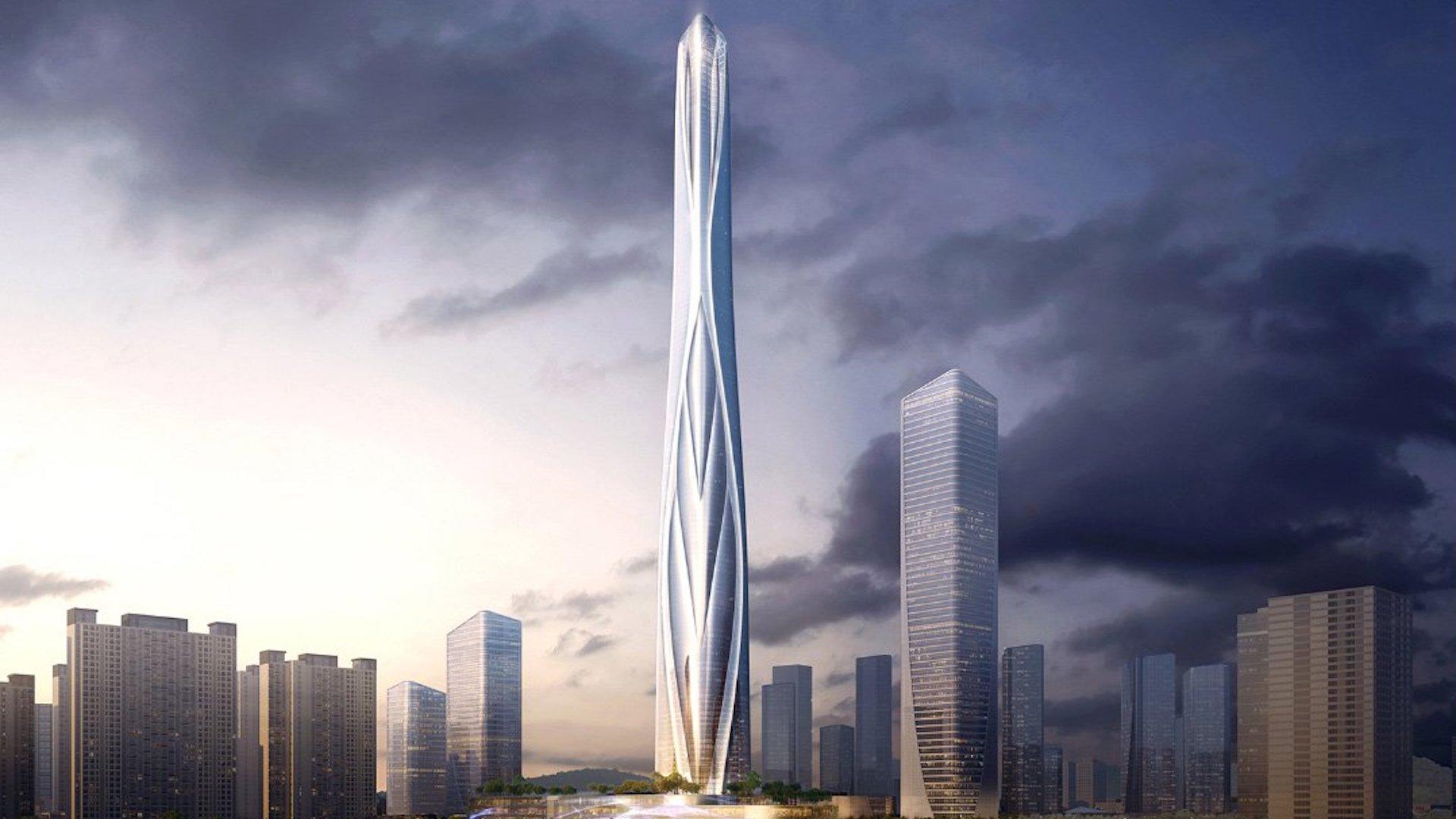 Así será el rascacielos más alto de China: imágenes