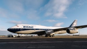 British Airways puso en el aire un avión diseñado como en los años 60