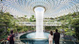 Así será la increíble cascada de agua en el aeropuerto de Singapur