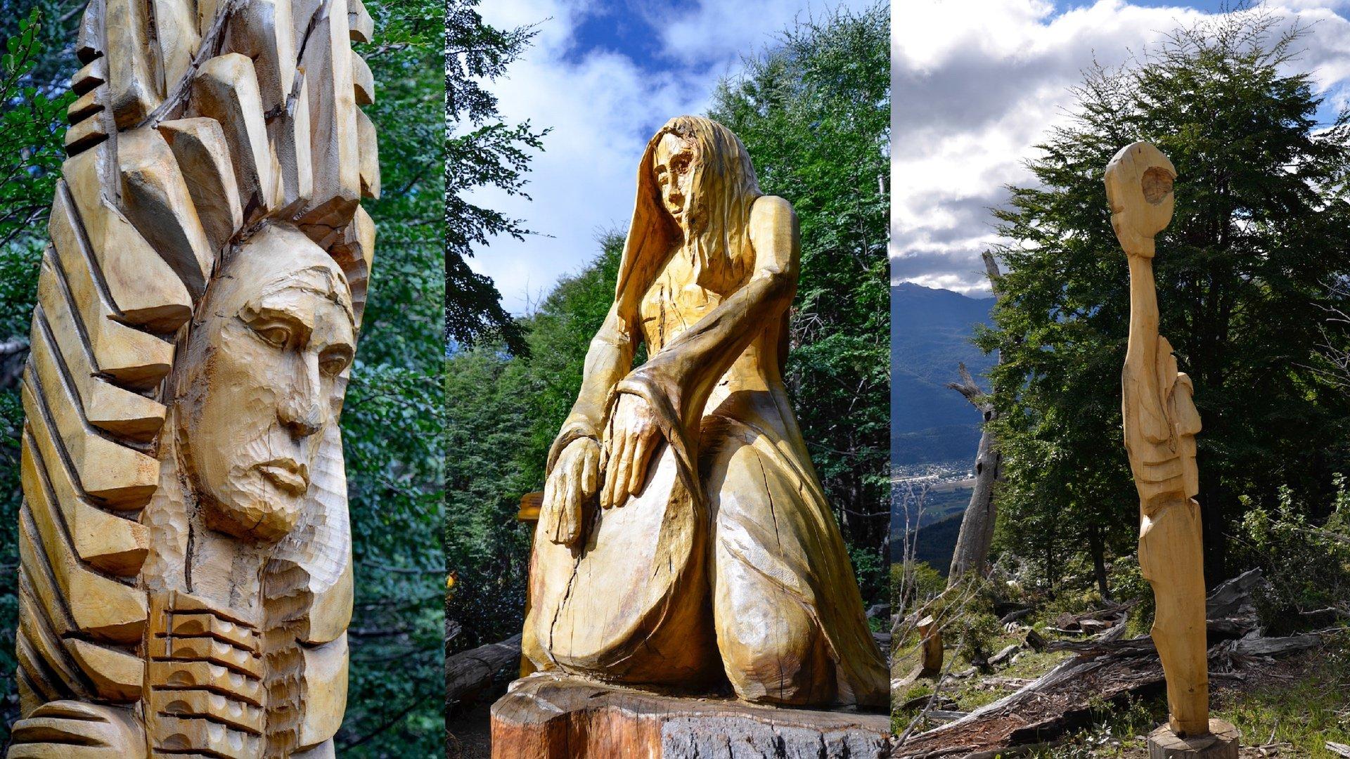 Así es el Bosque Tallado, un atractivo turístico distinto en El Bolsón