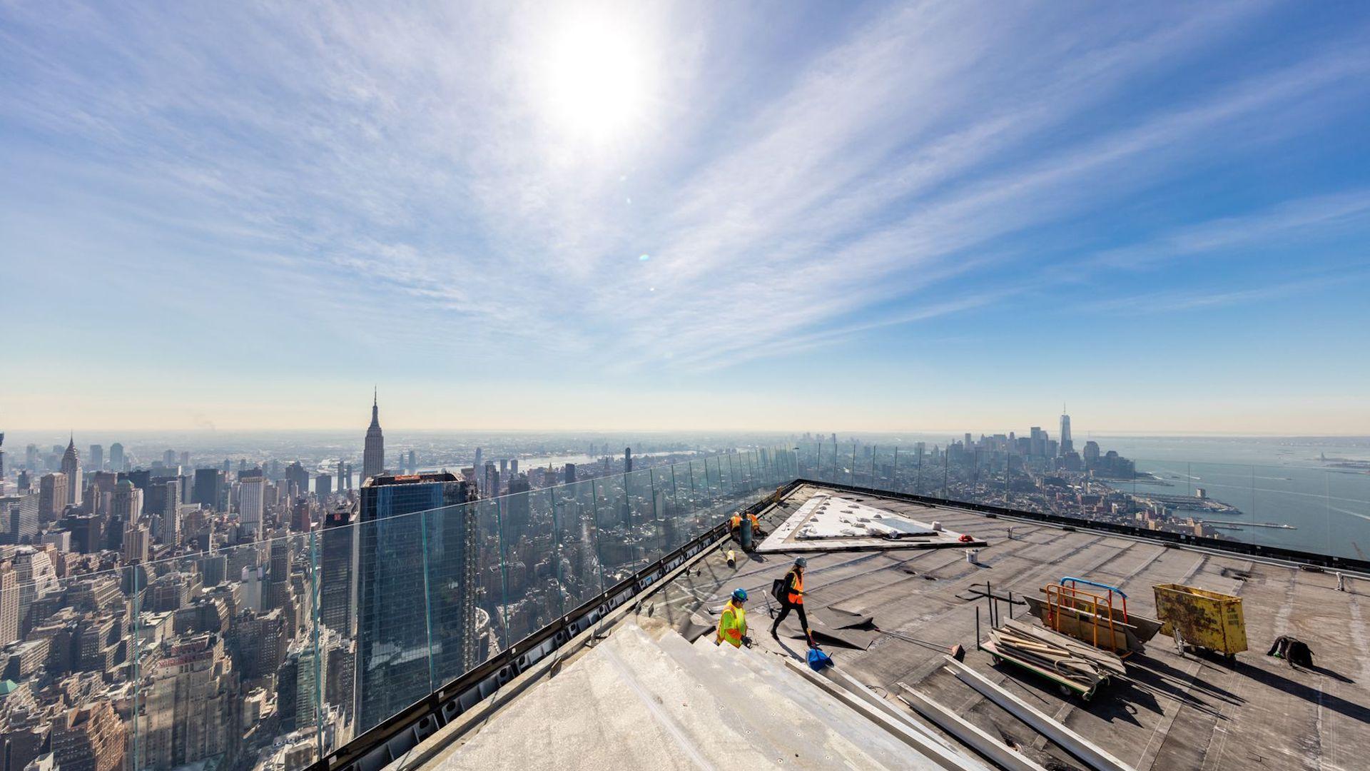 Así se ve New York, desde Edge, el observatorio en Hudson Yards