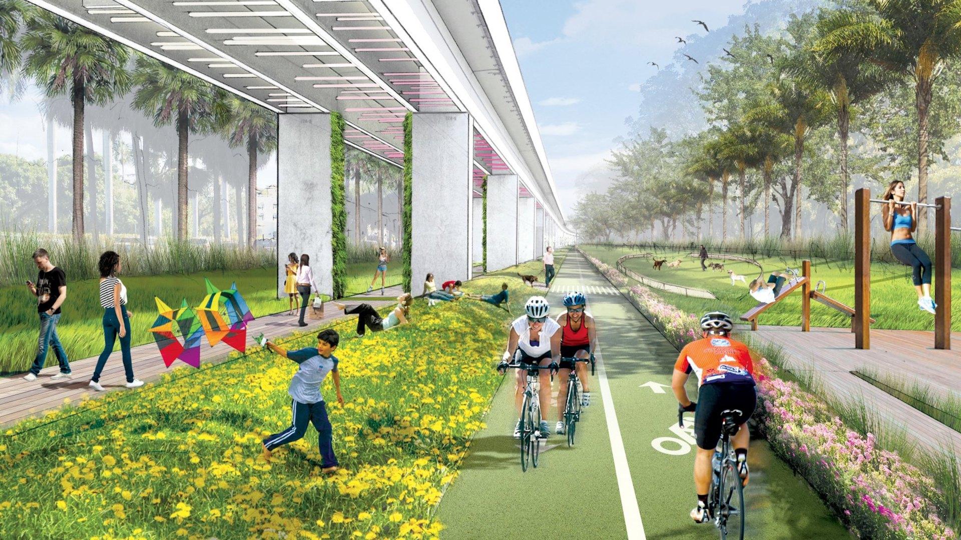 En 2020 inaugura Underline, el High Line de Miami: imágenes - 2