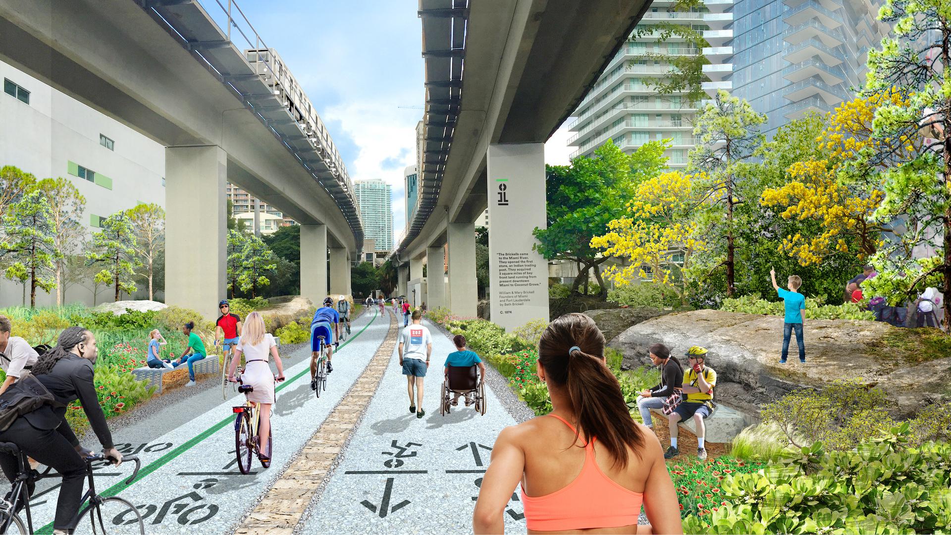 En 2020 inaugura Underline, el High Line de Miami: imágenes - 1