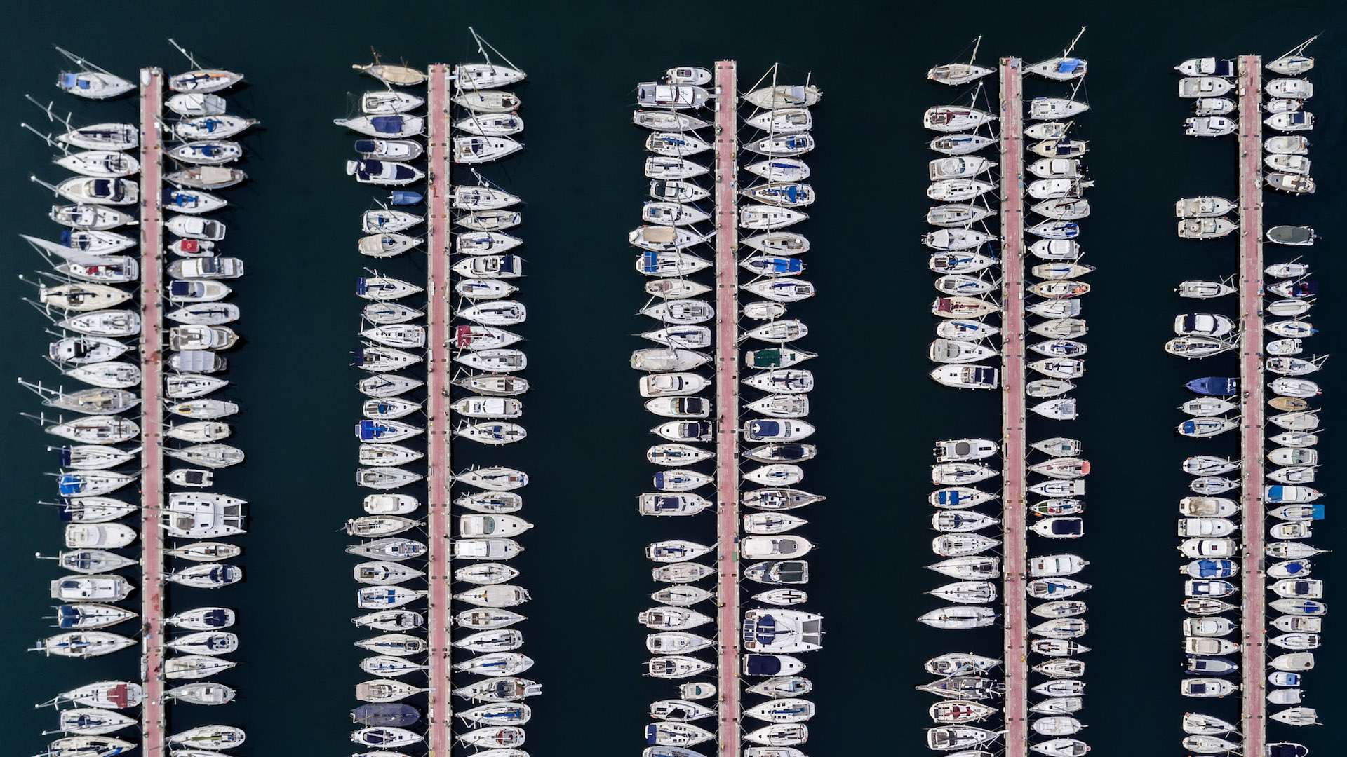 Barcelona from Above - Yachts