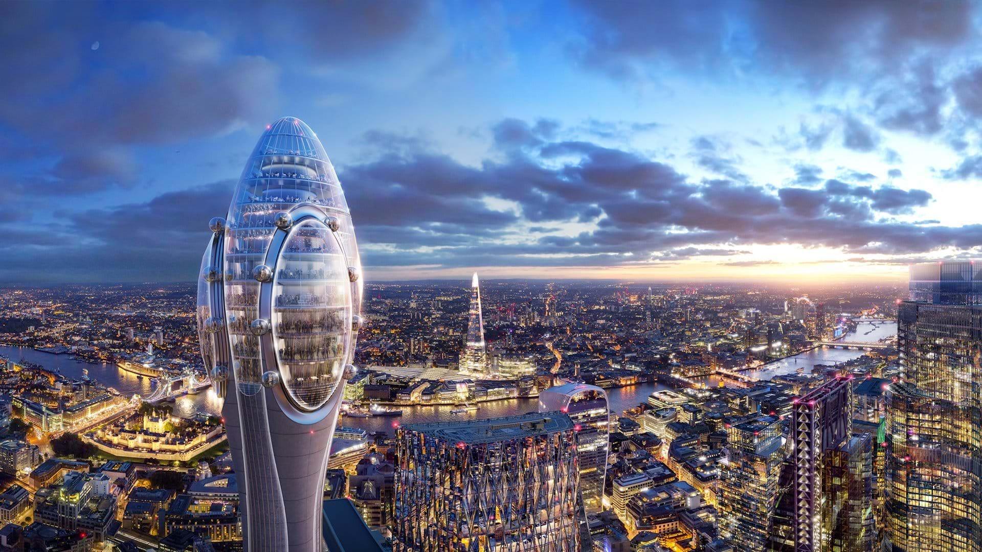 Así es The Tulip, la futurista torre mirador en Londres