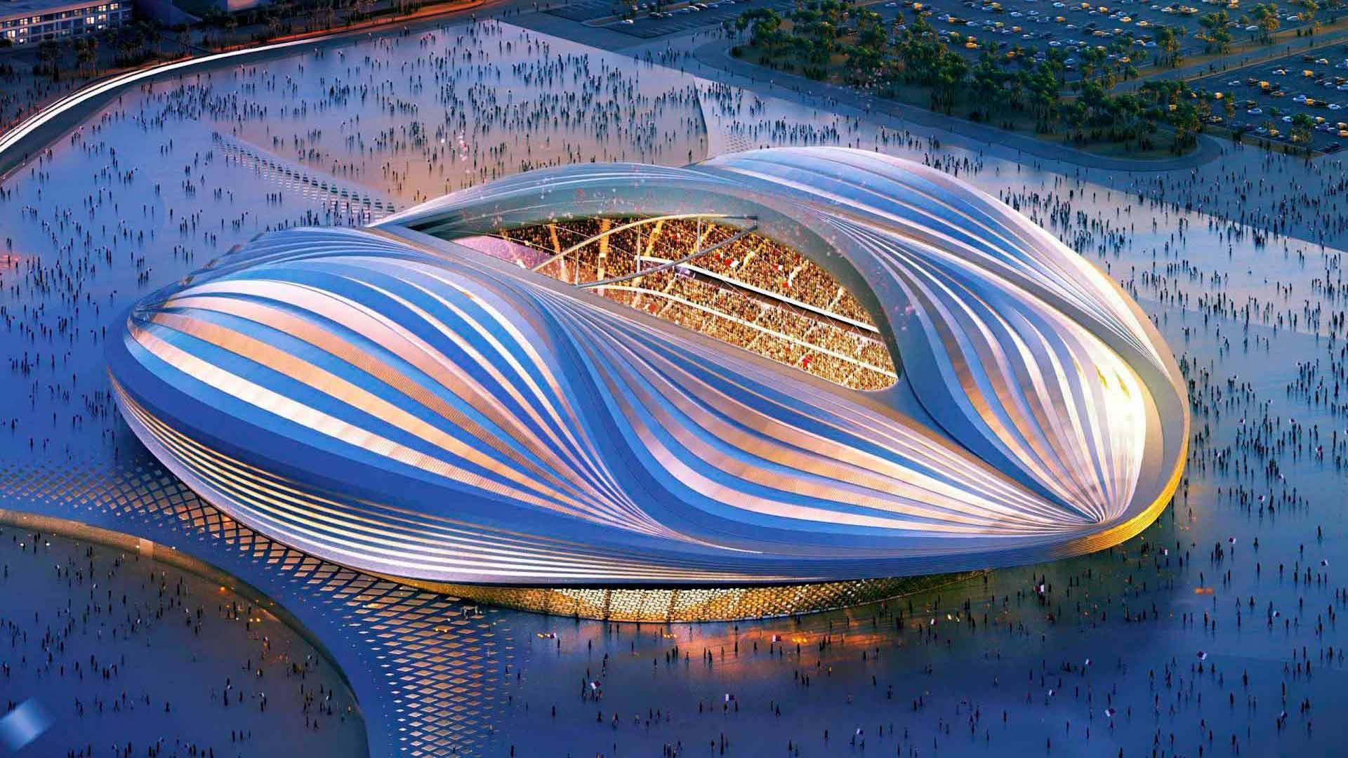Inauguró el impresionante estadio Al Wakrah de cara al Mundial Qatar 2022