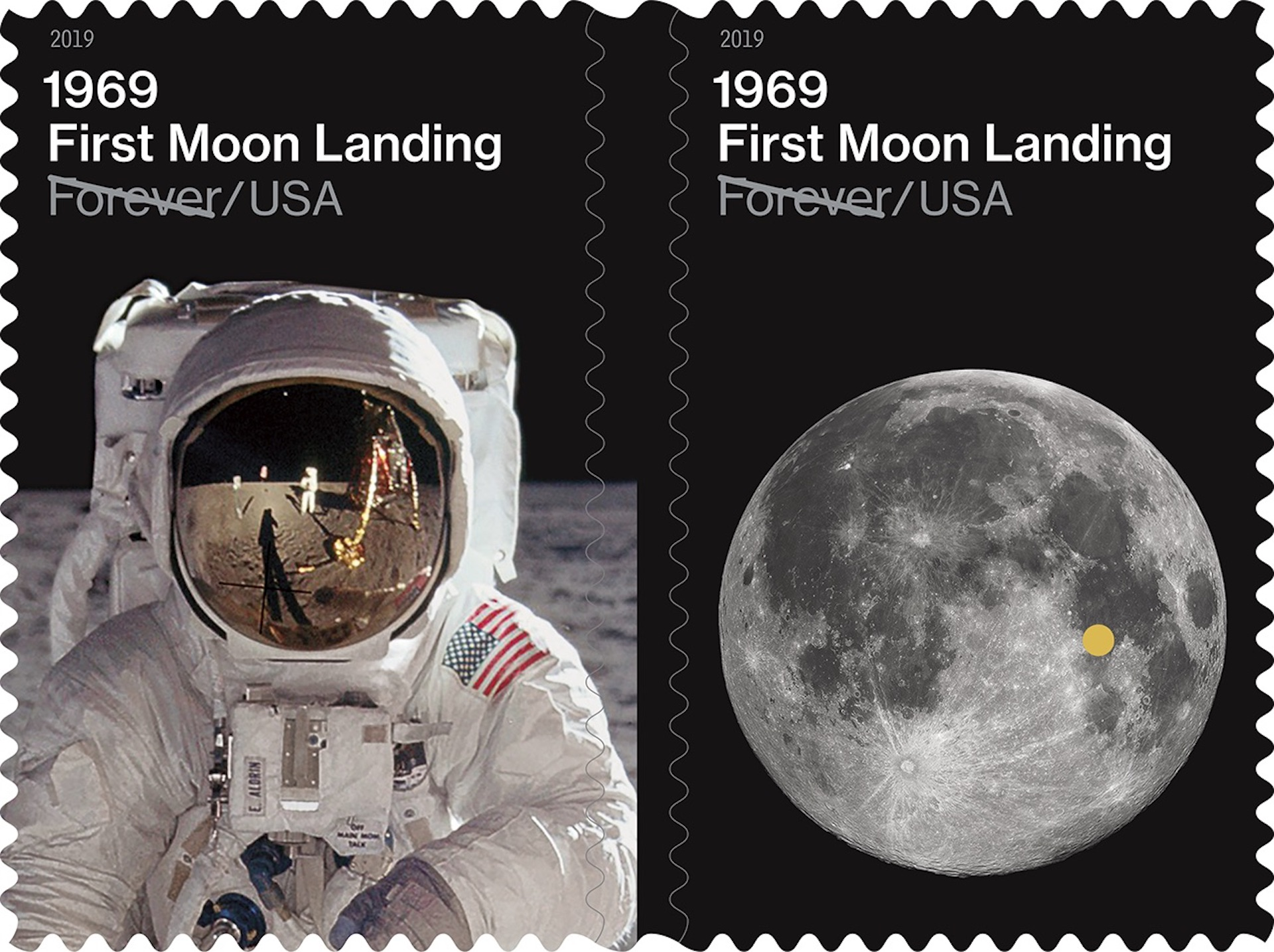 Lanzan estampillas para celebrar los 50 años de la llegada del hombre a la Luna