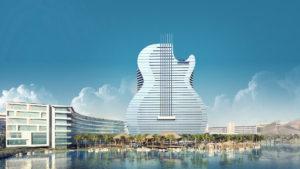 Este es el nuevo hotel Hard Rock con forma de guitarra
