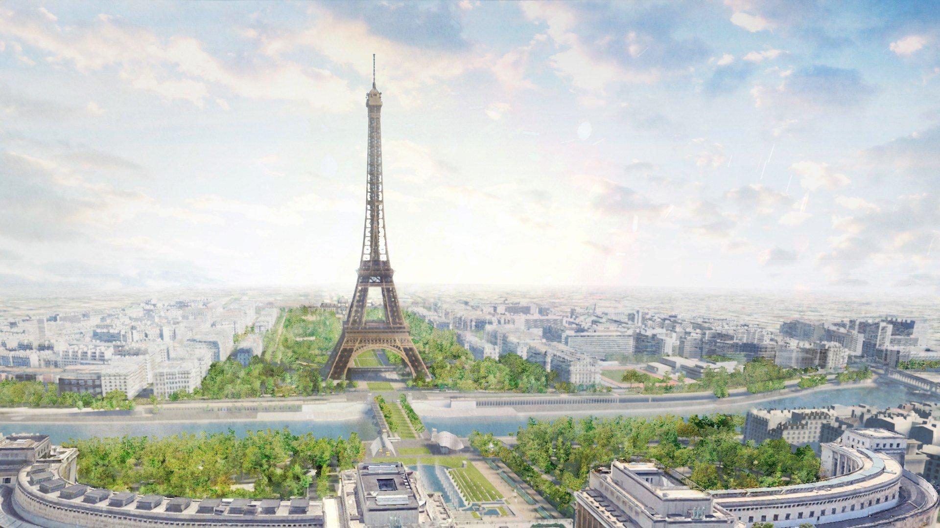 Así será el nuevo parque de París rodeando la Torre Eiffel: imágenes