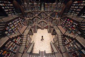 La librería en China que sorprende con sus formas geométricas