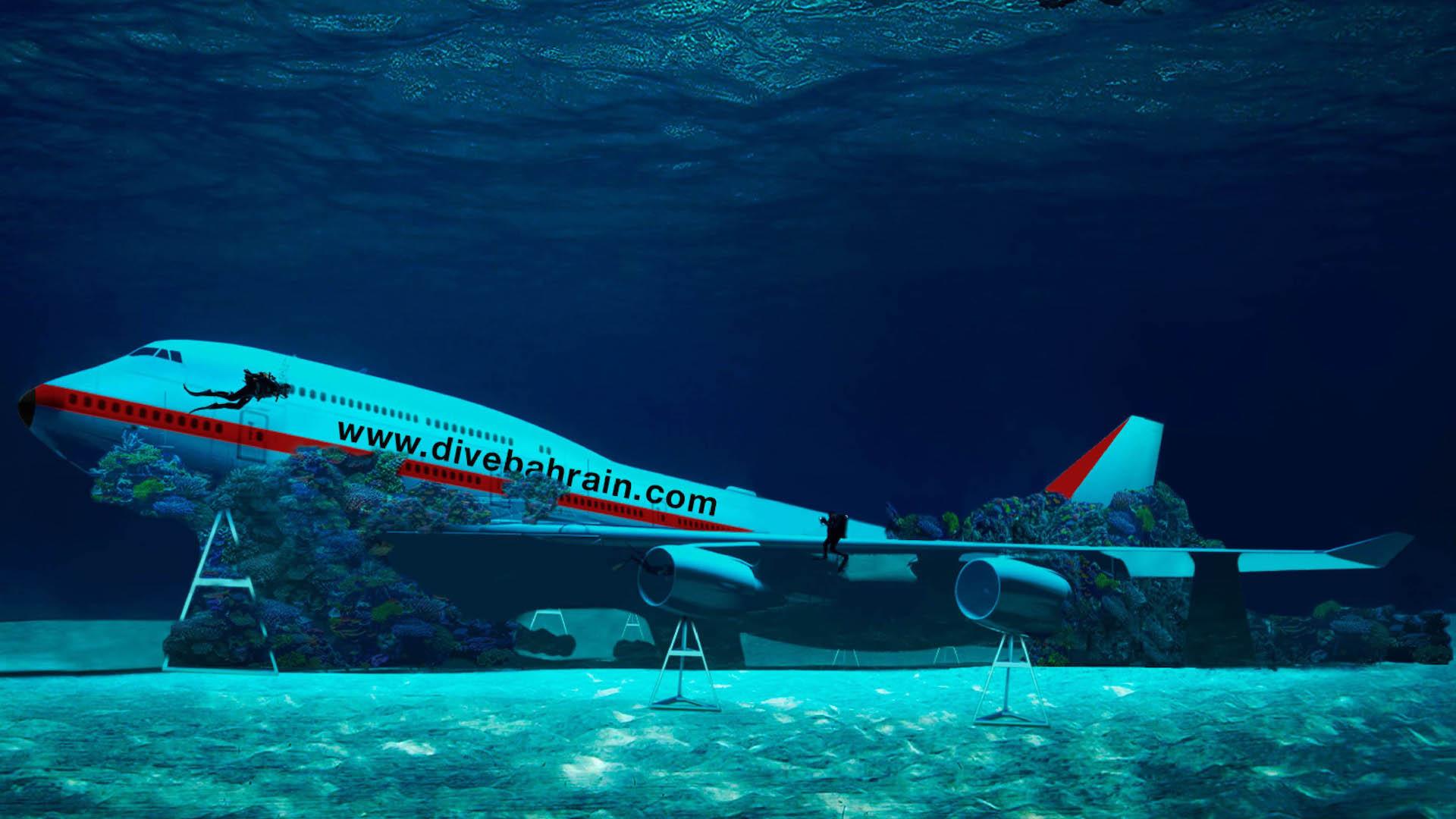 Abre el parque submarino más grande del mundo con un Boeing 747 hundido