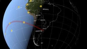 Así será el eclipse solar total de 2019: video