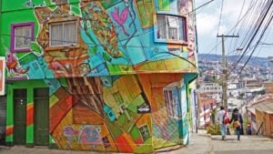 La ruta del arte callejero en Valparaíso