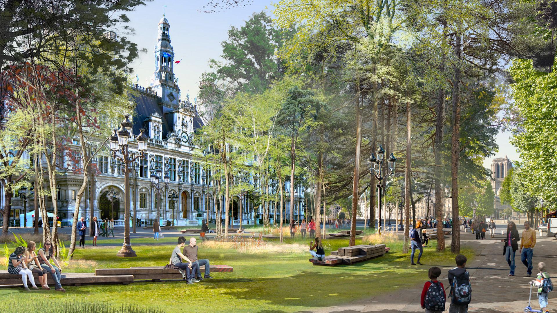 Así se verá la nueva París: más verde y ecológica