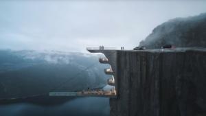 El hotel con piscina colgante desde un acantilado a 600 metros