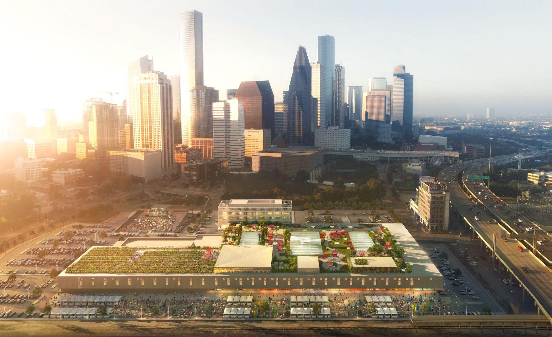 El gigantesco parque que se construirá en la terraza de una antigua oficina postal