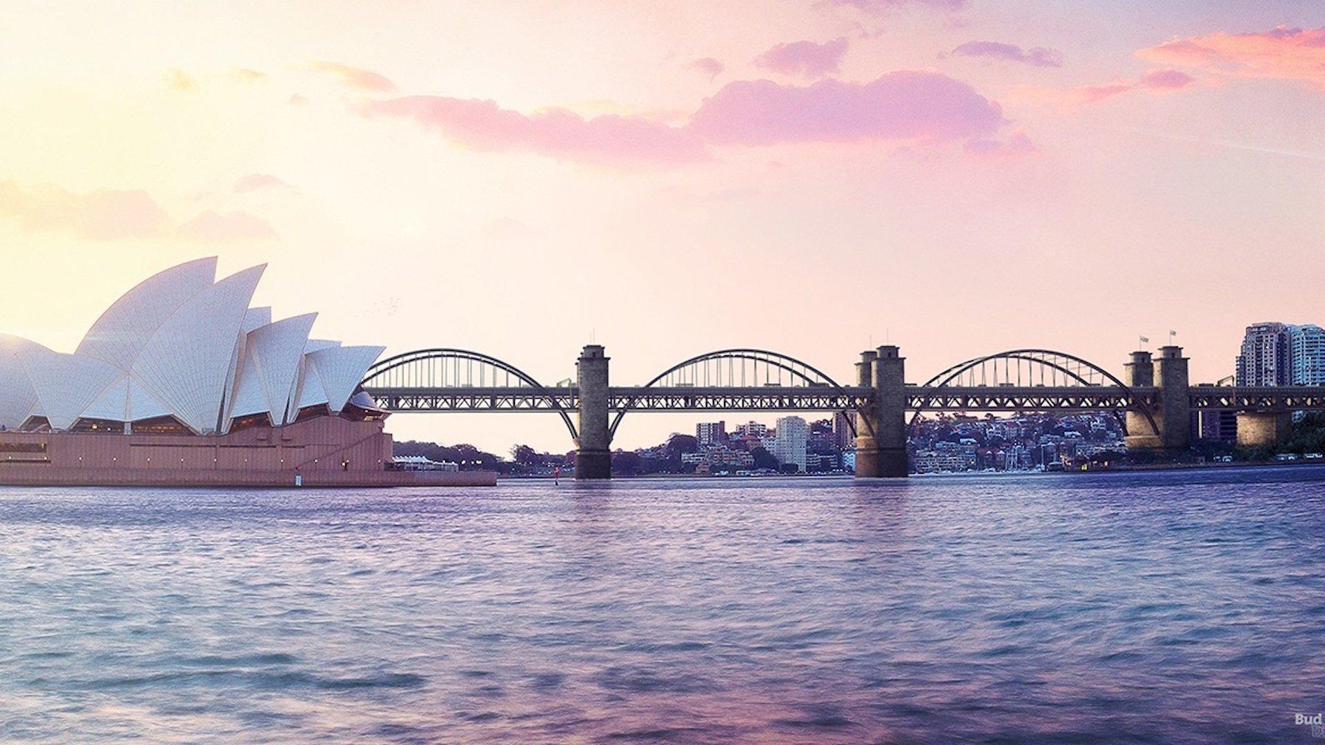 Así podría haber sido el famoso puente Harbour Bridge de Sídney