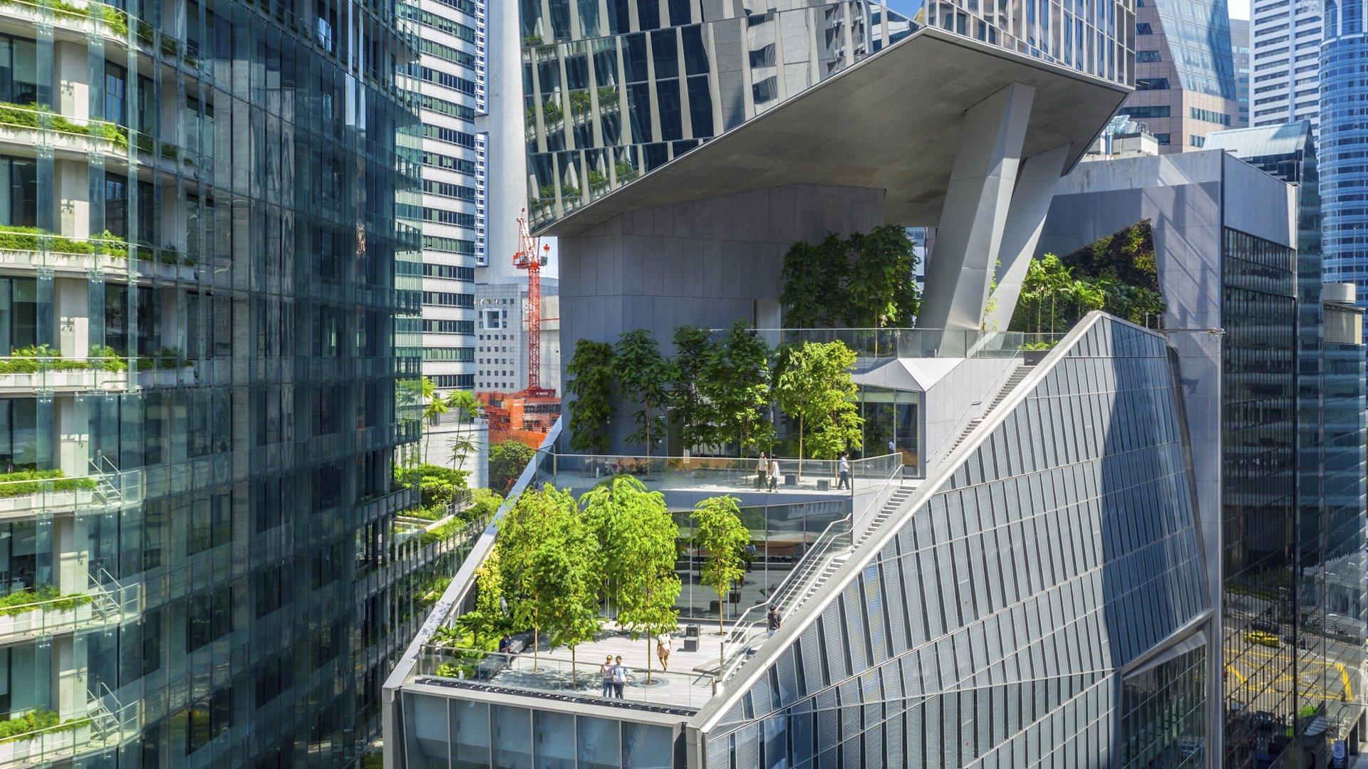 Robinson Tower: el nuevo rascacielos sustentable de Singapur