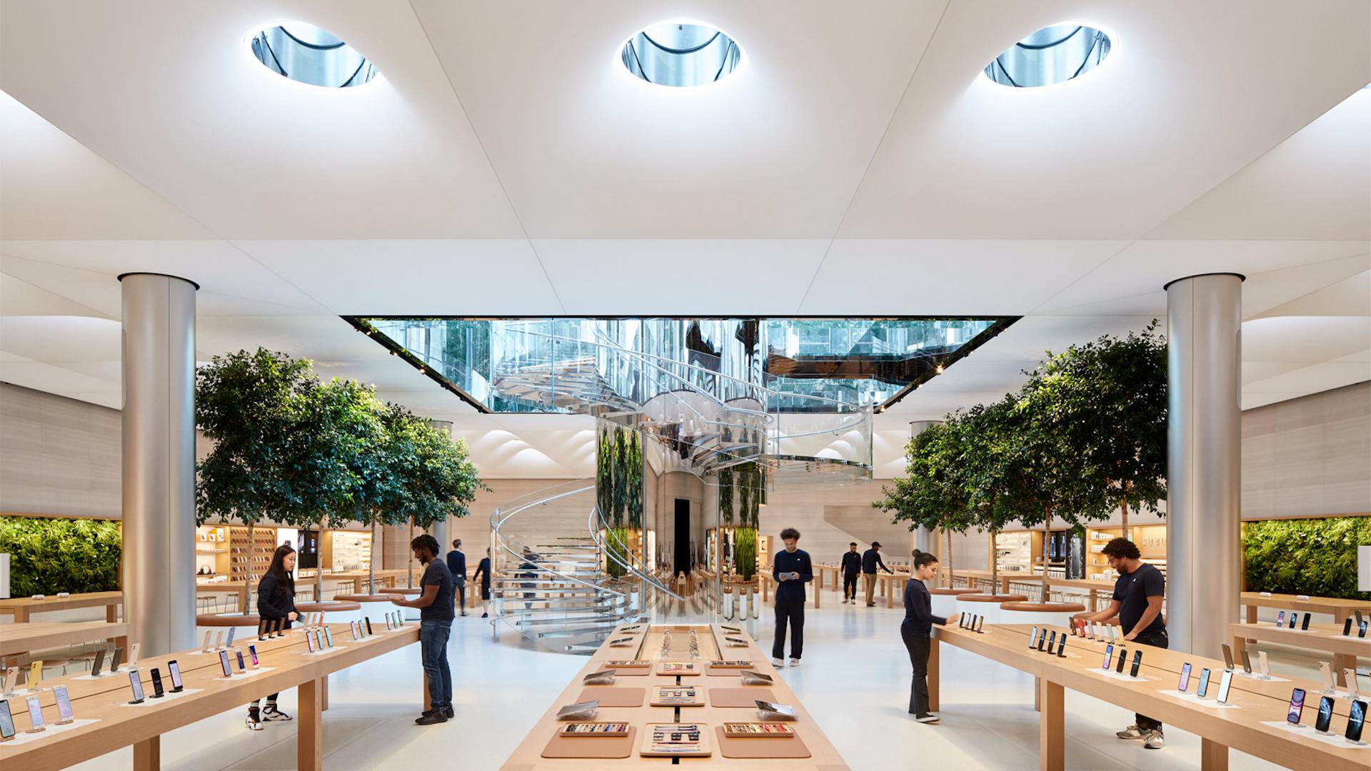 Así es el renovado Apple Store de Nueva York en la Quinta Avenida