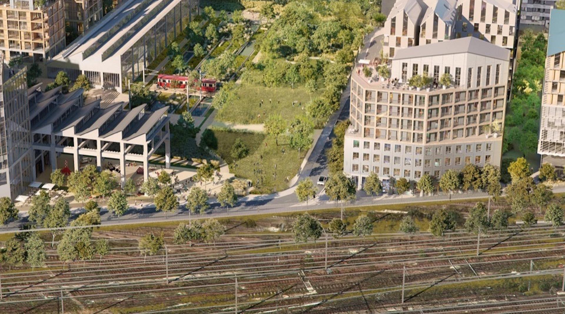 El nuevo barrio ecológico en París, construido sobre unas vías de tren