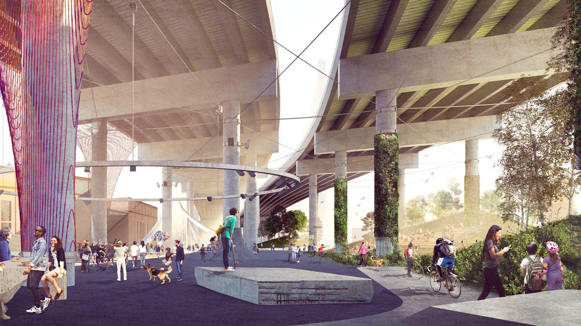 Nueva York tendrá un nuevo parque debajo del puente Kosciuszko