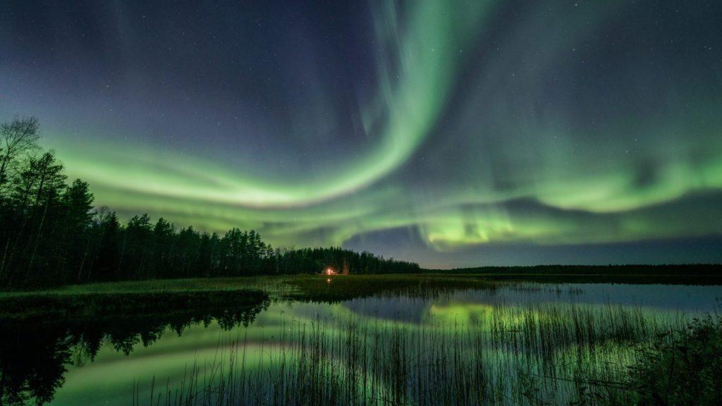 El mejor momento para ver las auroras boreales en Finlandia