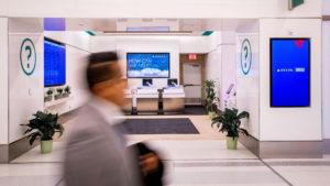 Inauguró la remodelación de un sector del aeropuerto LaGuardia de Nueva York