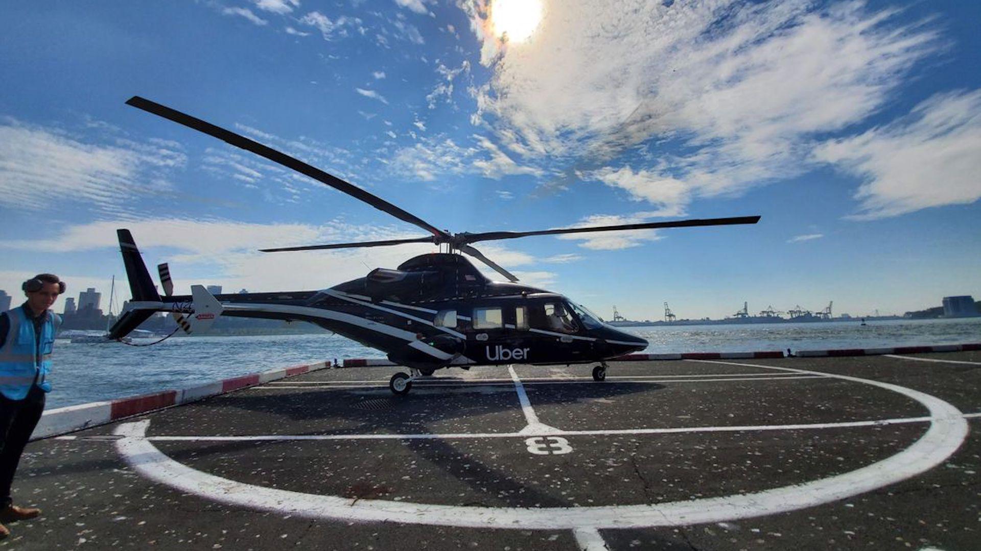 Se puede tomar un helicóptero de Uber para ir de Manhattan al JFK