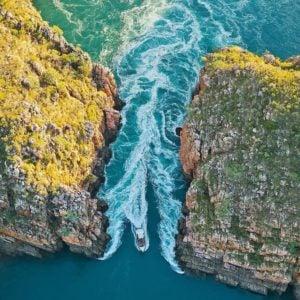 Así son las increíbles cataratas horizontales en Kimberly, Australia