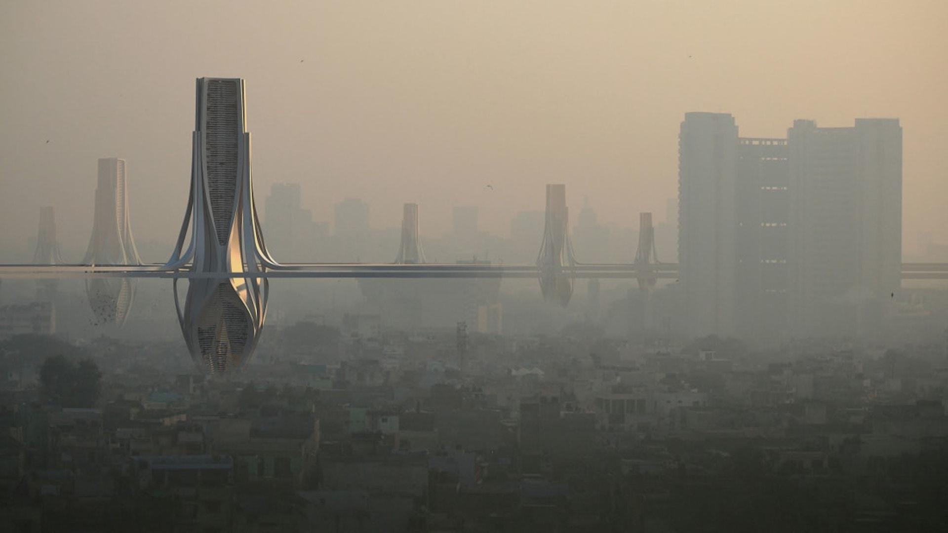 Quieren construir torres gigantes para limpiar el smog en la India