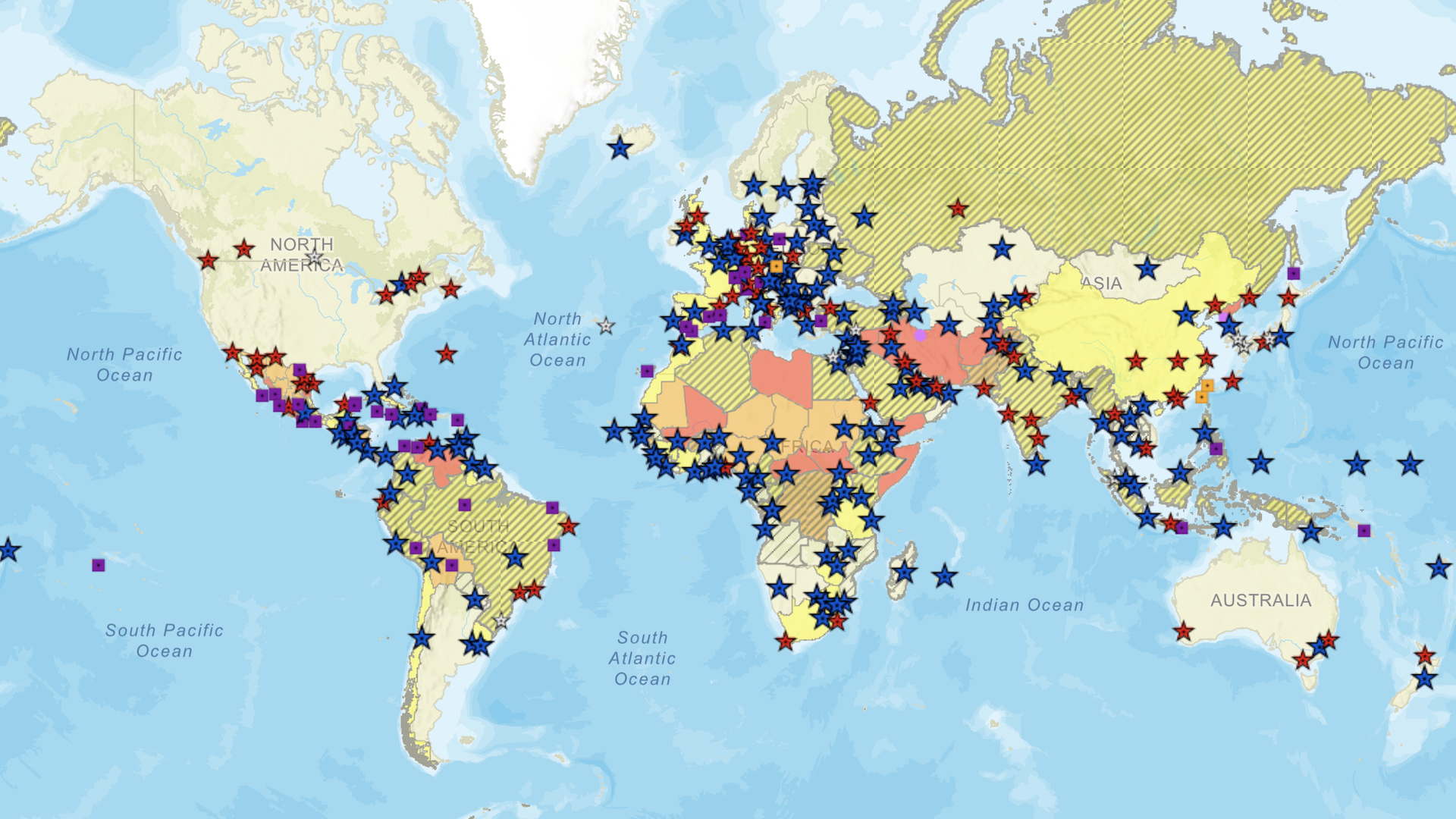 Los países más inseguros para viajar según Estados Unidos